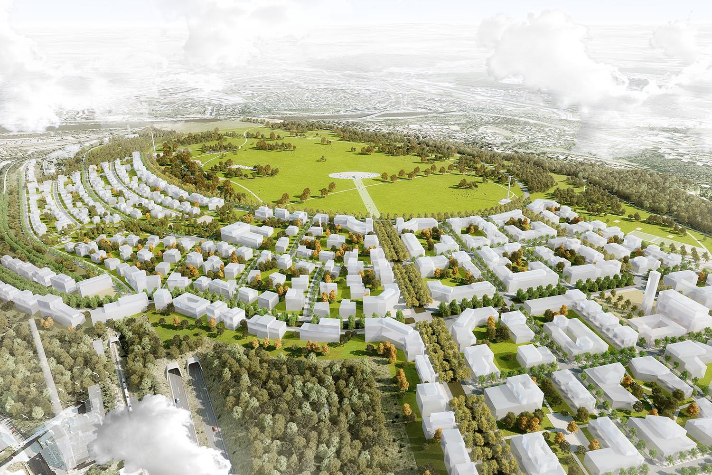 Odstrašující příklad územní studie architekta Pavla Hniličky, jejímž zadavatelem byl Odbor rozvoje MČ Praha 5