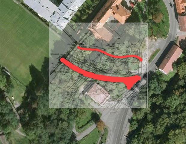 Jediným možným přístupem ke stavbě je výstavba skrz Hlubočepský park