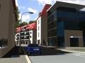 Studie bytových domů a administrativní budovy u Raudnitzova domu - pohled z viaduktu (zdroj: ARI atelier, s. r. o.)