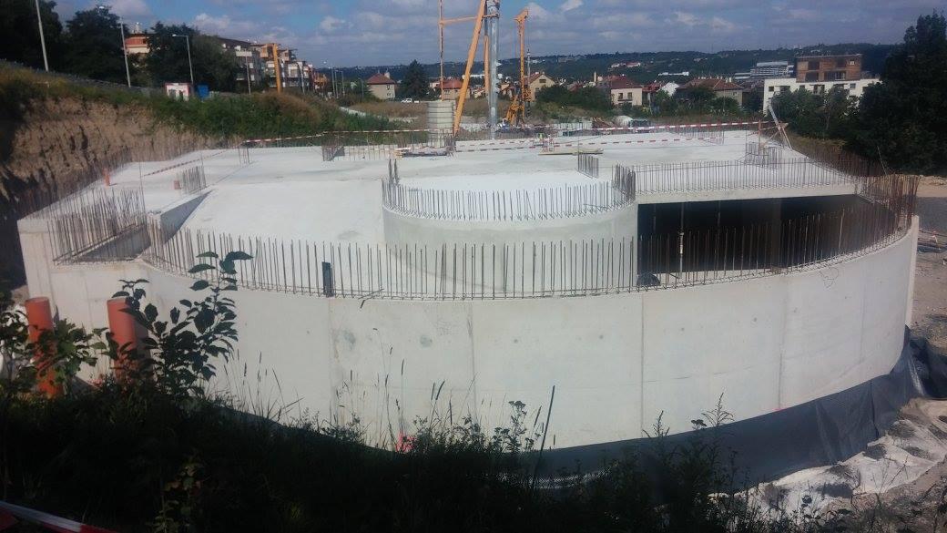 Spodní stavba objektu N4 je hotová (zdroj: VMS Projekt, s. r. o., 30. 8. 2016)