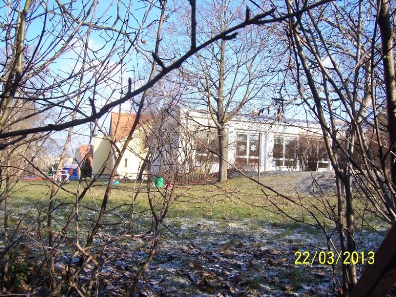Pohled na školku ze zahrady