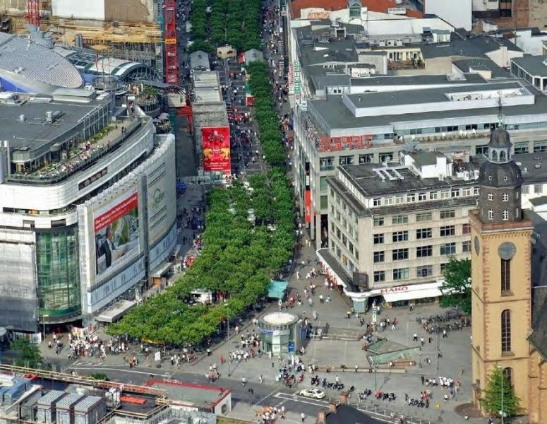 Magistrát se při návrhu nové čtvrti inspiruje frankfurtským bulvárem Zeil