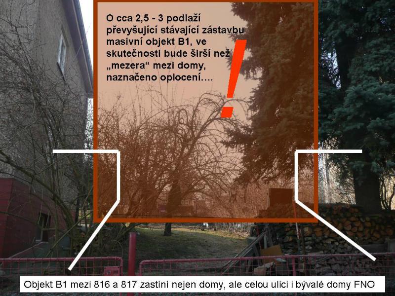 Vizualizace budoucího bytového domu, který bude převyšovat stávající zástavbu o 2,5 - 3 podlaží