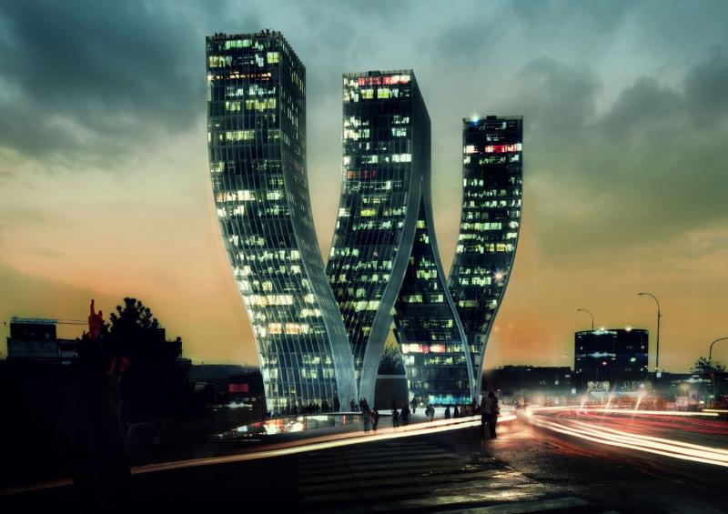 Projekt Walter Towers (zdroj: Bjarke Ingels Group)